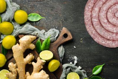 Salsiccia allo zenzero e limoni di Sicilia